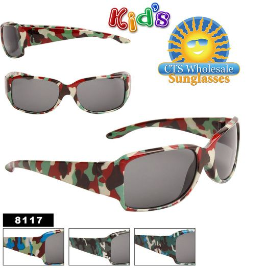 0dc2aba9a361c Camouflage Sport Wholesale Sunglasses for Kids - Style  8117 (Assorted  Colors) (12