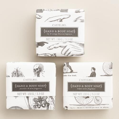 One of my favorite discoveries at WorldMarket.com: Castelbel Sketch Bar Soap Collection