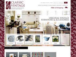 Classic Vintage - Bespoke Ecommerce Website Design & Development