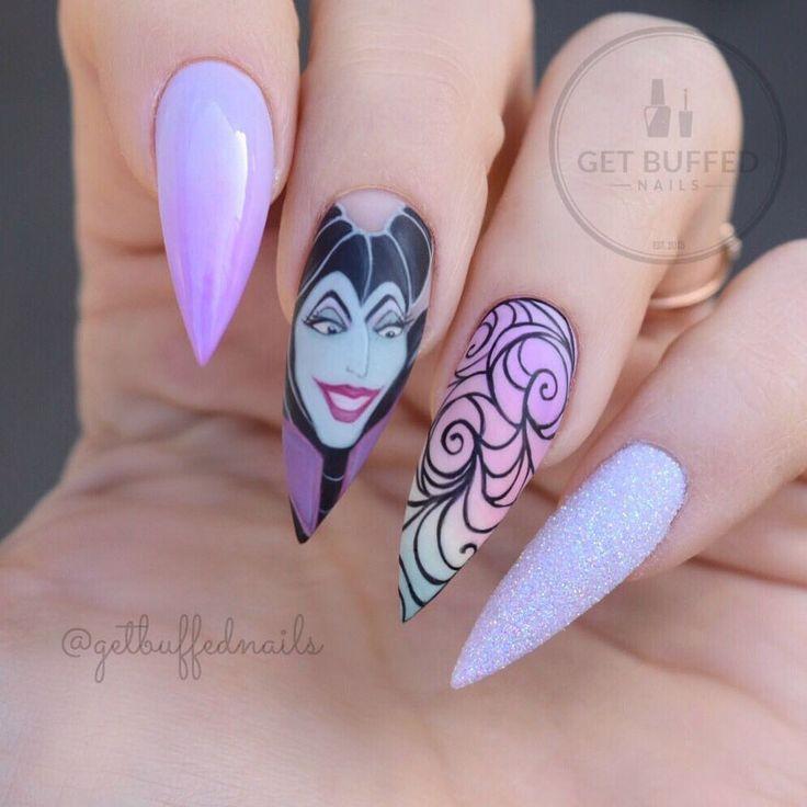 Sleeping Beauty Nail Art: Best 20+ Maleficent Nails Ideas On Pinterest