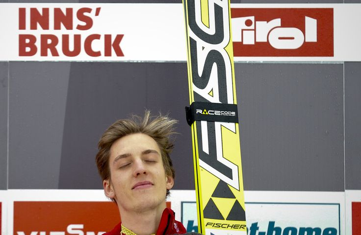 Gregor Schlierenzauer Photos Photos - (FRANCE OUT) Gregor Schlierenzauer of Austria takes 1st place during the FIS Ski Jumping World Cup Vierschanzentournee (Four Hills Tournament) on January 04, 2013 in Innsbruck, Austria. - FIS World Cup - Ski Jumping Four Hills Tournament