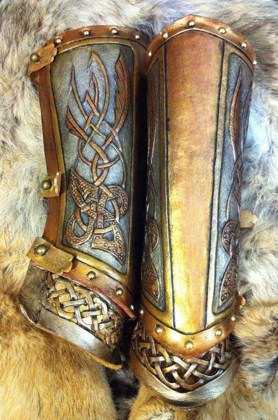 Medieval Celtic Viking Armor Bowmen Leather Bracer