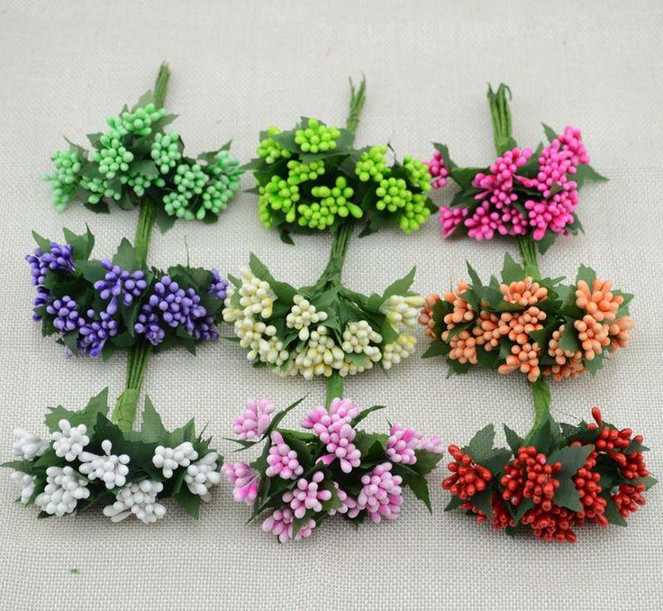12pcs  free shipping cheap Mulberry party Artificial Flower Stamen wire stem Bride Bouquet Decorative Flowers/Wedding Flower
