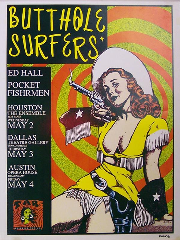 Butthole Surfers poster Frank Kozik