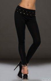 Zwarte legging met gouden studs