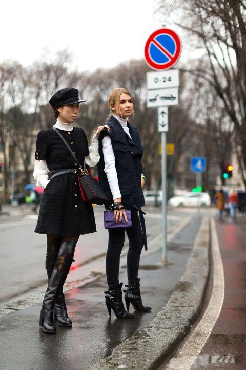 100+ photos of Milan fashion week's street style: