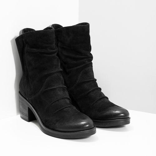 Nízke čierne kožené čižmy bata 271867d4c43