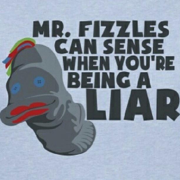 """liiiiii-aaar"" (in Garths voice it`s hillarious!!) Mr. Fizzles knows ALL! #Supernatural"