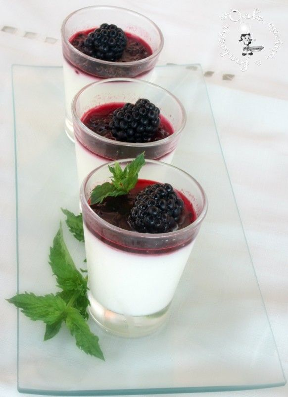 Panna cotta alle more,ricetta dolce