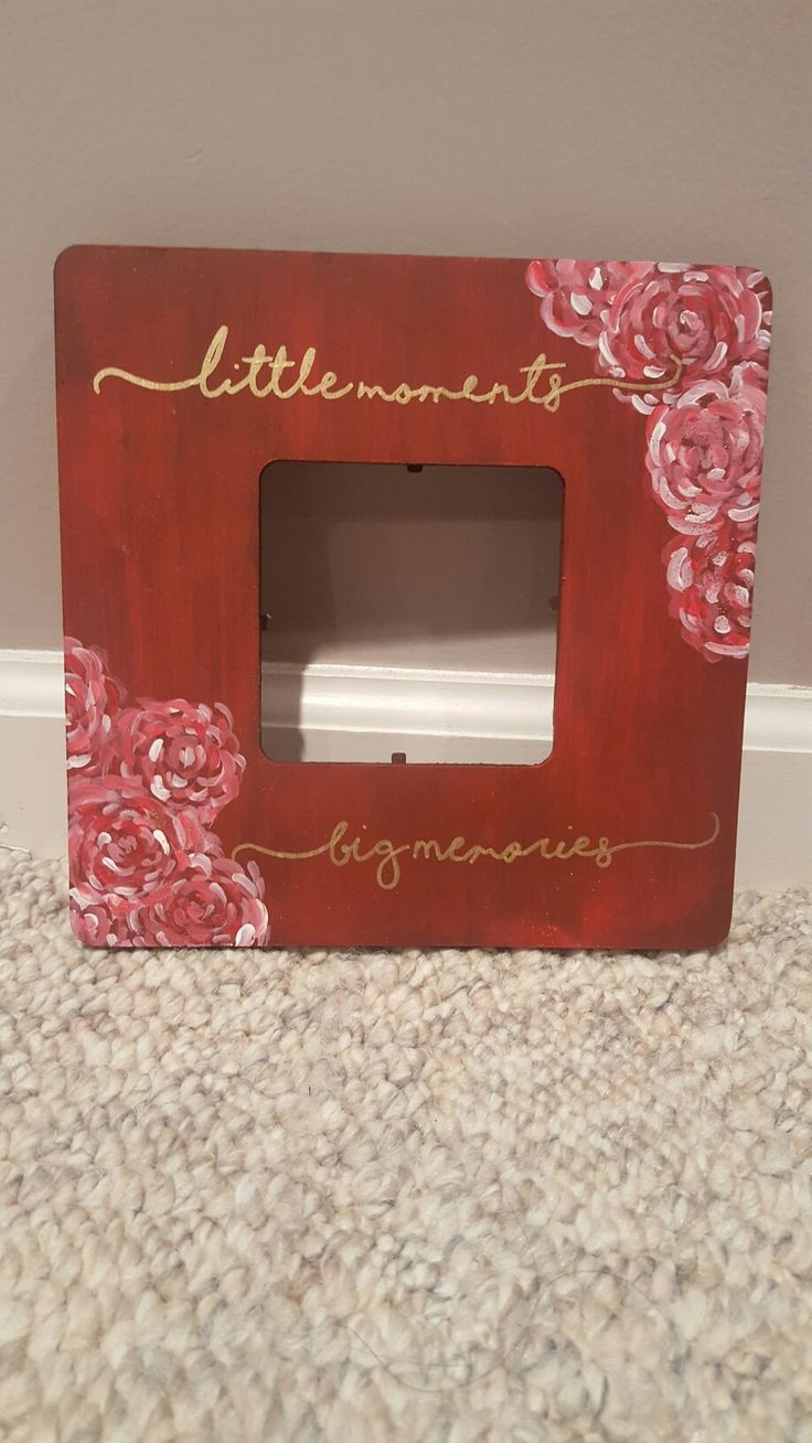 Big little picture frame  #biglittle #crafting #sorority #floral #lily