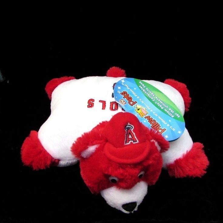 Mlb Los Angeles Angels Pujols Mini Pillow Pet 9 Red White Plush Bear Baseball Pillowpets Losangelesangels Mlb Losan Broncos Colors Animal Pillows Mlb Reds