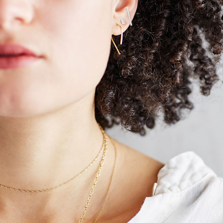 Sweet little shiny 14k gold-fill shaped hoops in three styles. Dimensions: Style A – 0.5″ x 1″ Style B – 0.5″ x 0.685″ Style C – 0.375″ x 0.625″