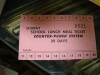 Image result for school lunch tickets from 1970's