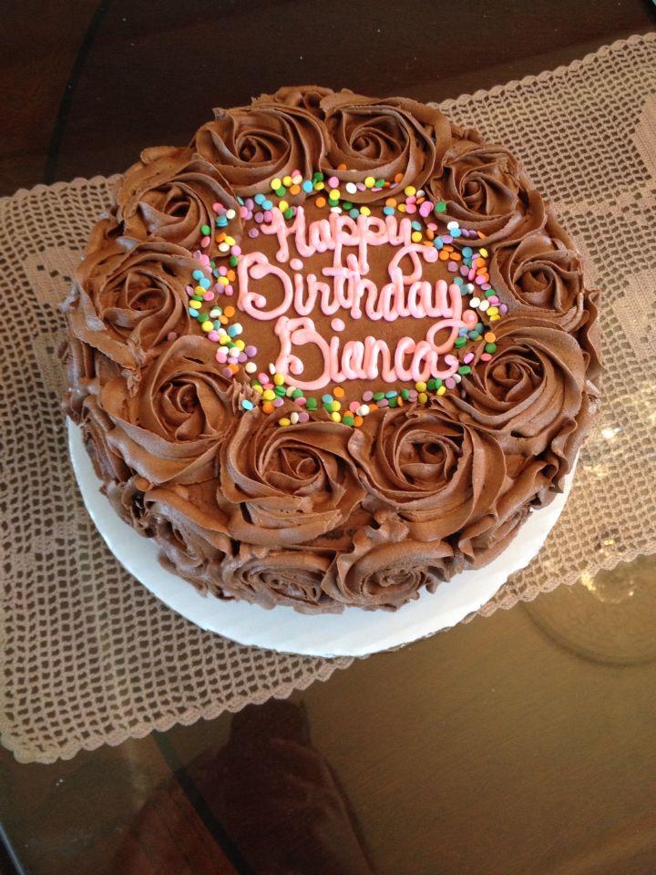 Chocolate On Chocolate Rosette Cake