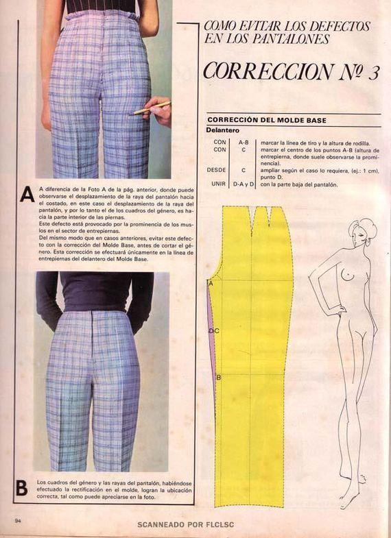 Корректировка выкройки брюк Корректировка выкройки брюк #3