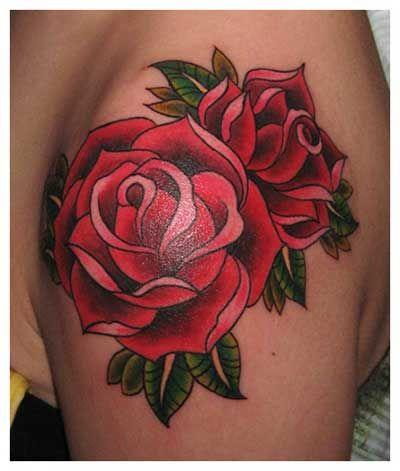 Tatuagens de Rosas: nas Costas, na Coxa, na Perna, no Pé