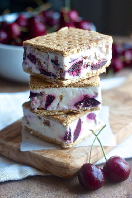 cherry crisp ice cream sandwiches.