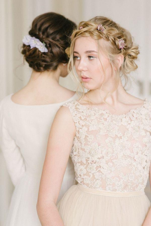 Boho vintage braided bridal updos | Olesya Ukolova Photography on @CVBrides via @aislesociety