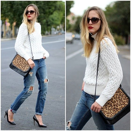 Love this look!!! Effortless & chic. I've been looking for the perfect animal print bag... Now I'm on a mission.