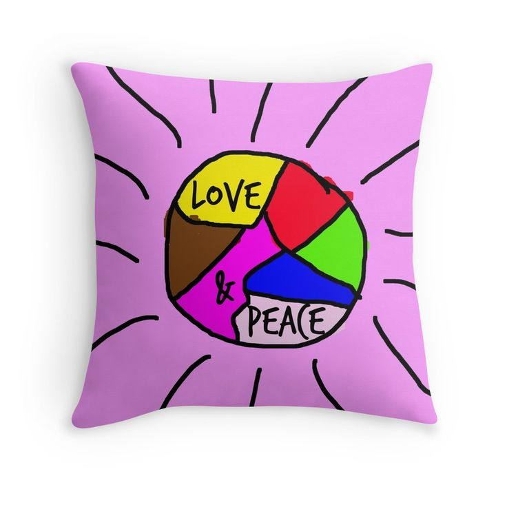 Love and peace. Nice pads designed by Brigitte B. Would you buy this pillow? Look here: https://www.redbubble.com/people/bbrigitte/works/23537031-love-and-peace?p=throw-pillow&ref=artist_shop_grid