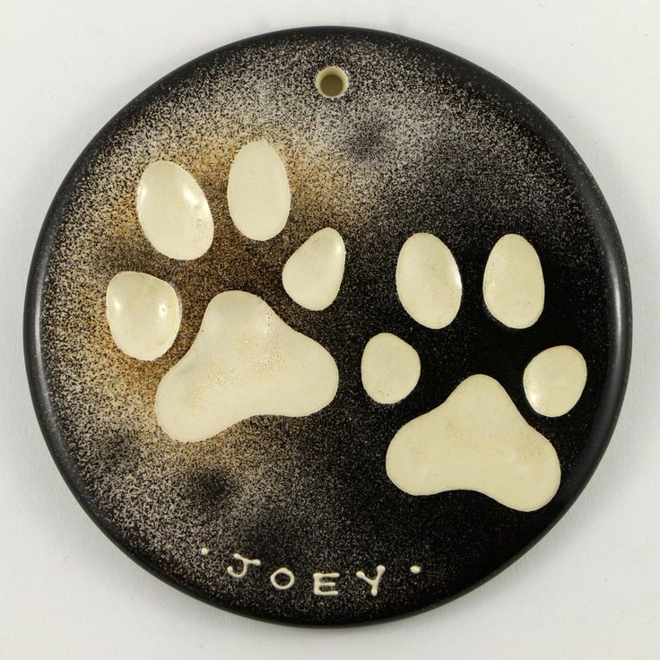 fur match pattern on this personalized paw impression for Joey #dog