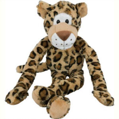 $7.36 Multipet's Swingin' Safari Leopard plush dog toy with extra long arms and legs with squeakers.Swingin' SafariToy Squeaks when pet squeezes itKeeps dog entertainedDog toyPets