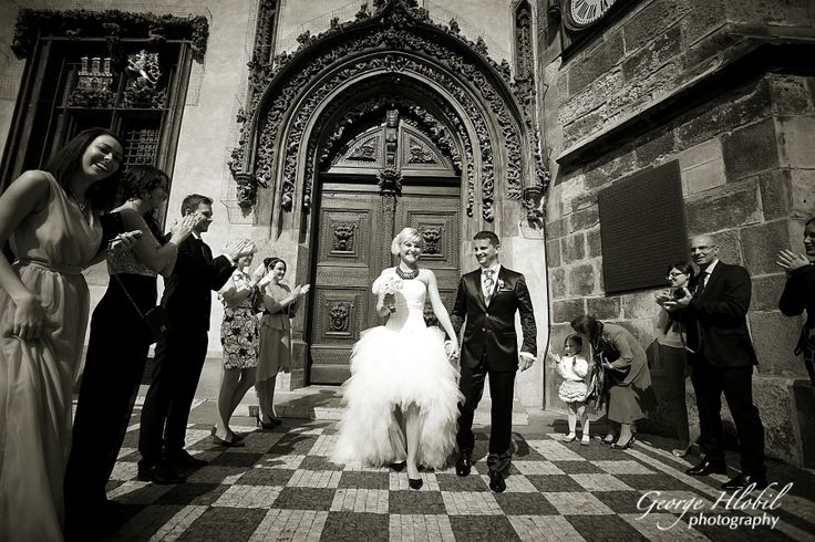 Wedding ceremony at Old Town Hall, Prague - Astronomical Clock Tower in Prague, Old Town