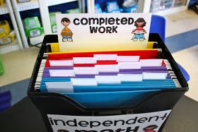 Ladybug's Teacher Files: Organizing differentiated math work