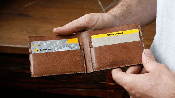 Kangaroo Leather Wallet Classic, Light Brown, Mocha, Hand Stitched, Billfold Wallet, Leather Wallet