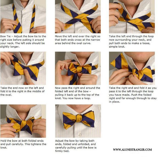 How to Tie a Bow Tie | 21 Incredibly Important Diagrams To Help You Get ThroughLife