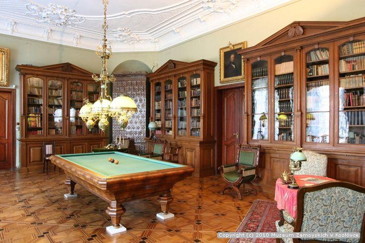 Library, Zamoyski palace, Kozłówka, Poland