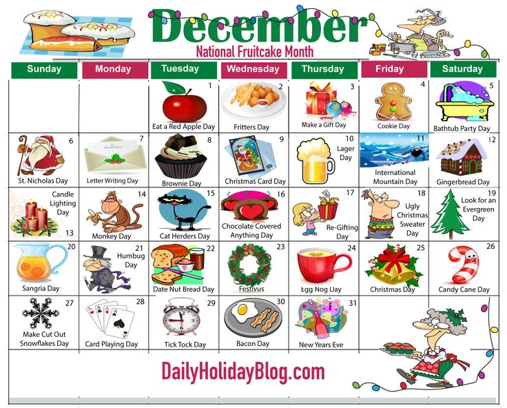 Upload your free December Holiday Calendar!