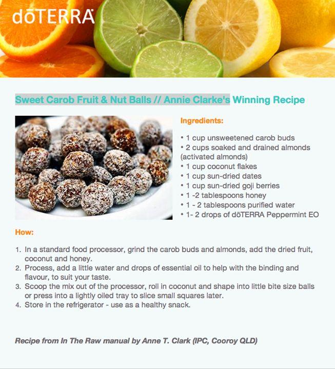 Sweet Carob Fruit & Nut Balls with doTERRA Peppermint ...