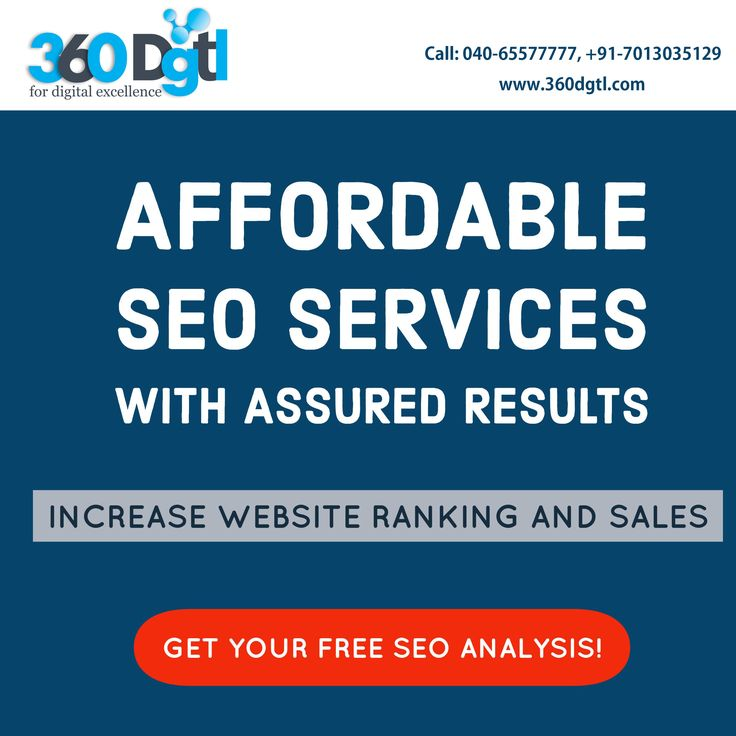 Affordable SEO Services with Assured Results   Increase Website Ranking and Sales.   Get Your Free SEO Analysis!