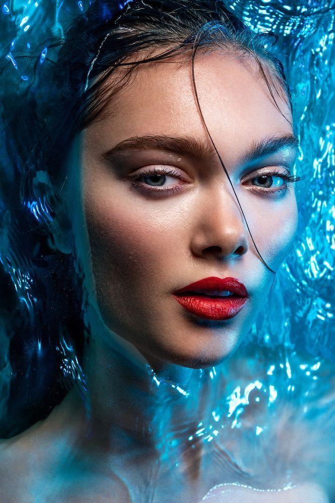 Картинки макияж вода