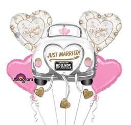 Just Married Mr & Mrs Party Wedding Balloon Bouquet Party, Bridal Shower Balloon Kit Party Decor, Mylar Foil Engagement Balloons by Deco4PartyCake on Etsy