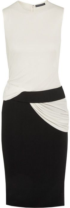 Alexander McQueen Two-tone stretch-jersey dress on shopstyle.com