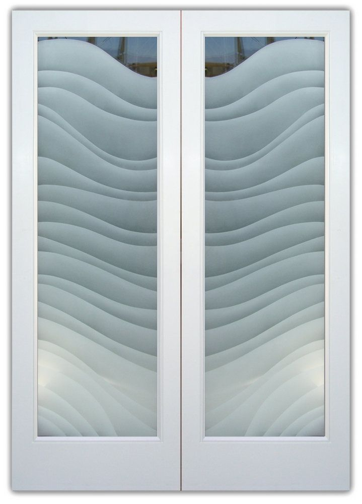 Dreamy Waves 2d Double Entry Doors Hand Crafted