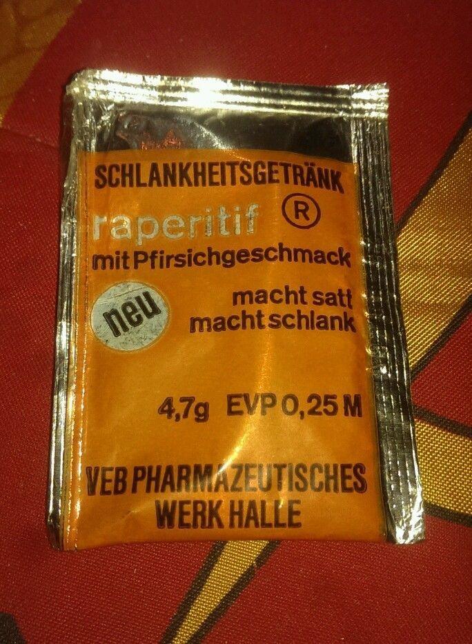 Original  DDR Lebensmittel raperitif Diät Brausepulver Verzehr Konsum HO ovp