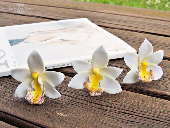 Guarda questo articolo nel mio negozio Etsy https://www.etsy.com/it/listing/281452672/forcine-con-orchidee-forcine-per-sposa