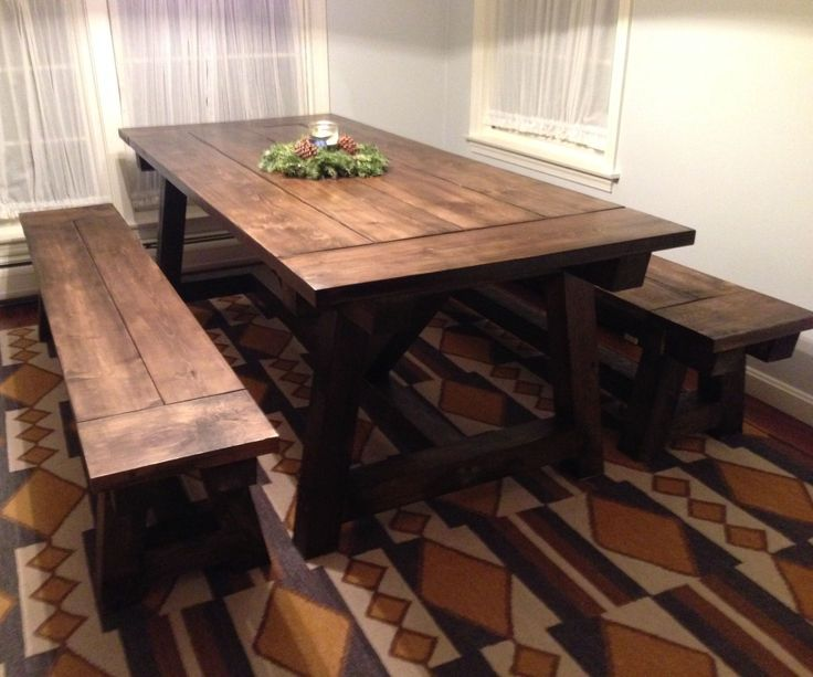 17 best ideas about rustic farmhouse table on pinterest for Rustic dining room table plans
