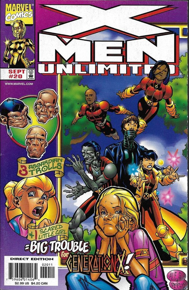 Marvel X Men Unlimited Comic Issue 20 X Men Marvel Comics