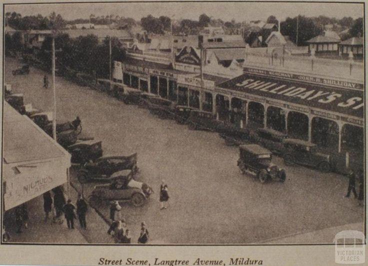 Street scene, Langtree Avenue, Mildura, 1918