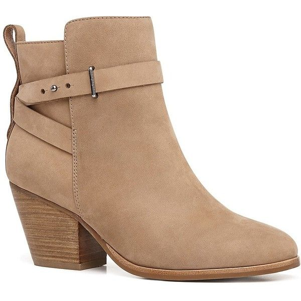 Witchery Piper Ankle Boot (£57) ❤ liked on Polyvore featuring shoes, boots, ankle booties, botas, sapatos, heels, leather booties, bootie boots, leather high heel boots and short leather boots