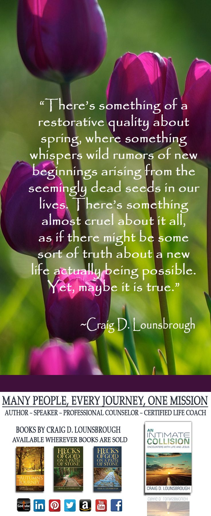 Endings are the sad fiction penned from the scant substance of our limited vision.  Beginnings are the brazenly reassuring facts brilliantly composed from the infinite treasures of God's limitless heart.  An empty grave is the pinnacle of just such a beginning.  See more at https://clounsbrough.wordpress.com/.
