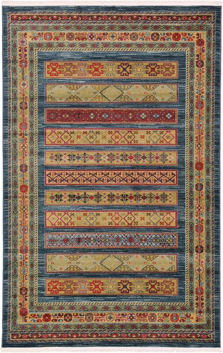 Blue 5' x 8' Kashkuli Gabbeh Rug | Area Rugs | eSaleRugs
