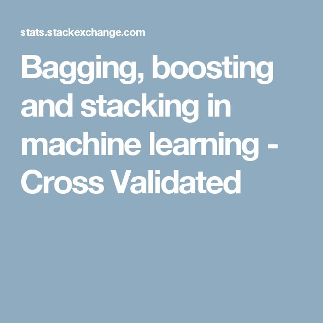 stacking machine learning