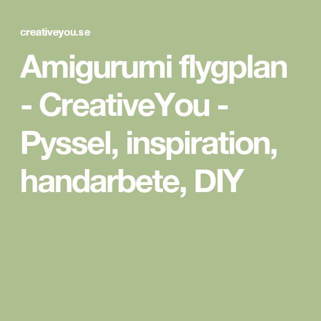 Amigurumi flygplan - CreativeYou - Pyssel, inspiration, handarbete, DIY