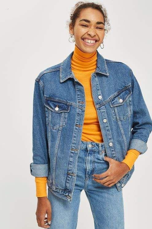 385718277 Topshop Moto oversized denim jacket | denim jacket | fashion ...