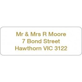Clear Address Labels with Gold Print | Buy Online with Identity Direct Australia